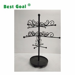 Metal Necklace / Bracelet Jewelry display tree stand