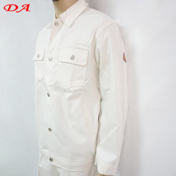 56acc6d3ac98 Sgs White Suit Flame Resistant Workwear Radiation Protection Suit ...