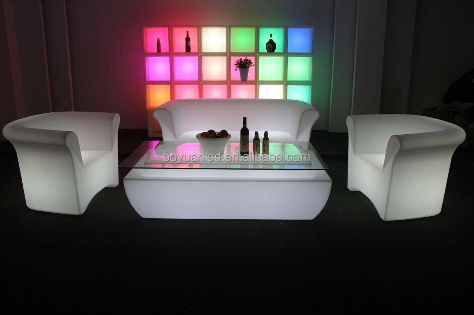 Interior e exterior de pl stico moderno levou para o sof for Sofa plastico exterior