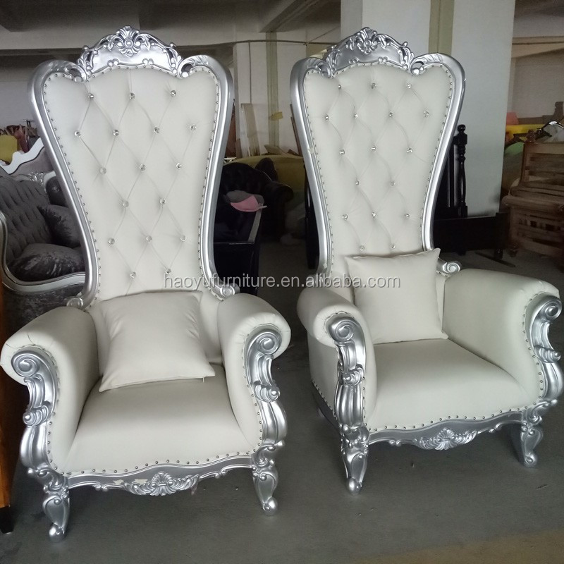Beautiful LC92 French Baroque Throne Chair,wedding Throne Chairs,silver Throne Chair