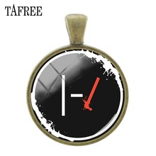 TAFREE Twenty One Pilots музыкальный браслет знак символ металлический DIY Ожерелье Подвески стеклянный кабошон купол ручной работы брелок аксессуары ...(Китай)