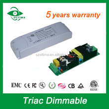 led module constant voltage triac dimmable driver 60w 24v power supply class 2