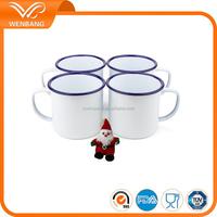 White melamine enamel bulk coffee mugs