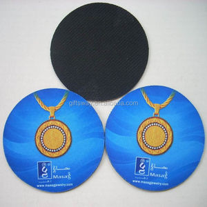 Supplier factory price Eco-friendly recycled round drink rubber rubber coaster