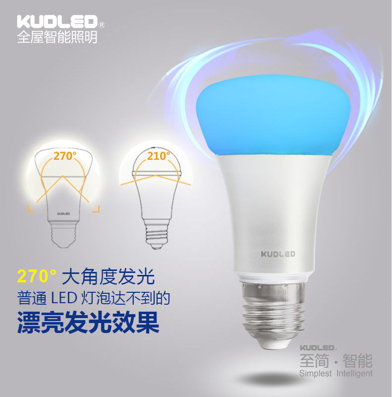 Zigbee Light Link Colorful Light Bulb E27 9w RGBW Bulb