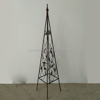 Merveilleux Decorative Wrought Iron Tall Garden Obelisk Metal Obelisk For Garden Steel  Pyramid Garden Obelisk For Sale