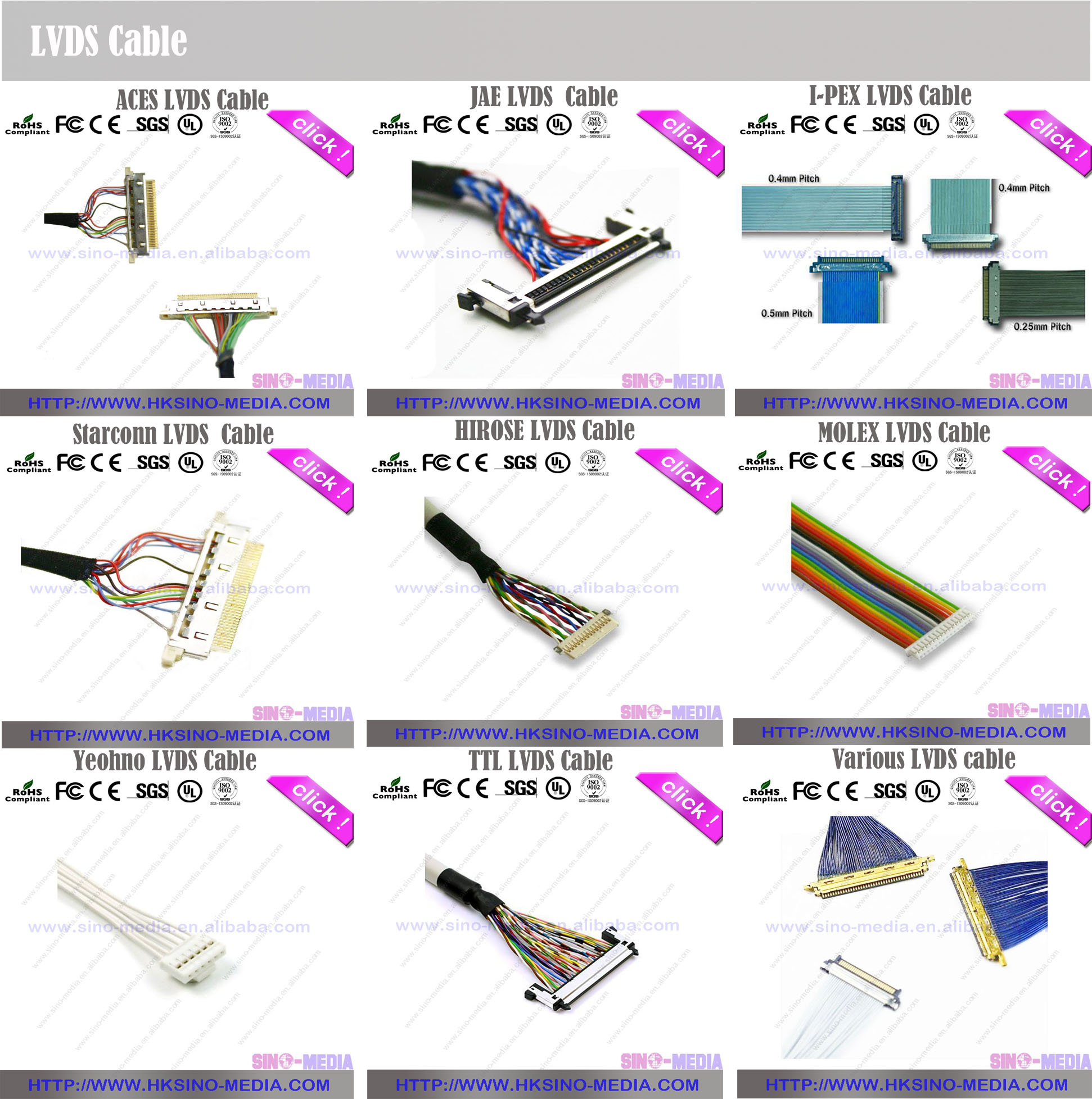 on 20 pin wire harness lvds panel