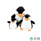 Cute Customized Funny Soft Fat Penguin Design Stuffed Plush Toy For Baby And kids