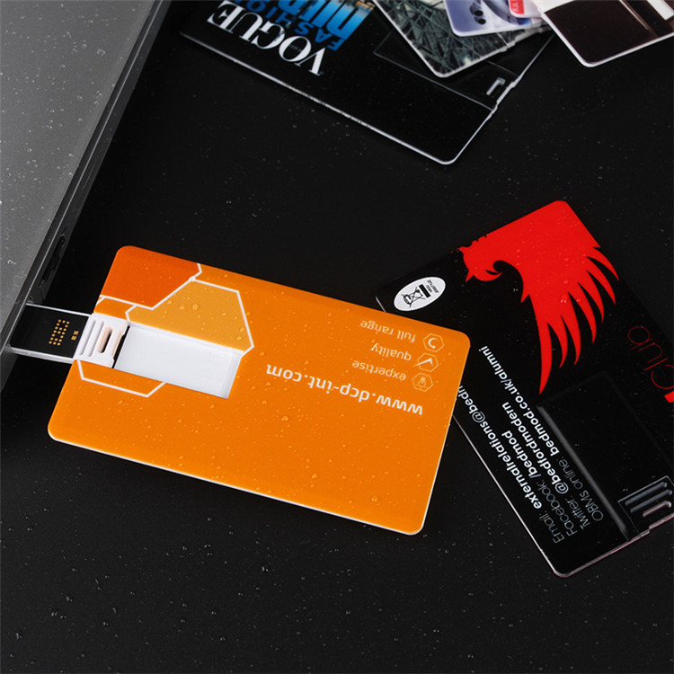 Wholesale plastic credit card shape usb memory stick flash wafer usb card drive