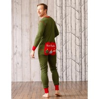 funny green plain adult onesie pajamas