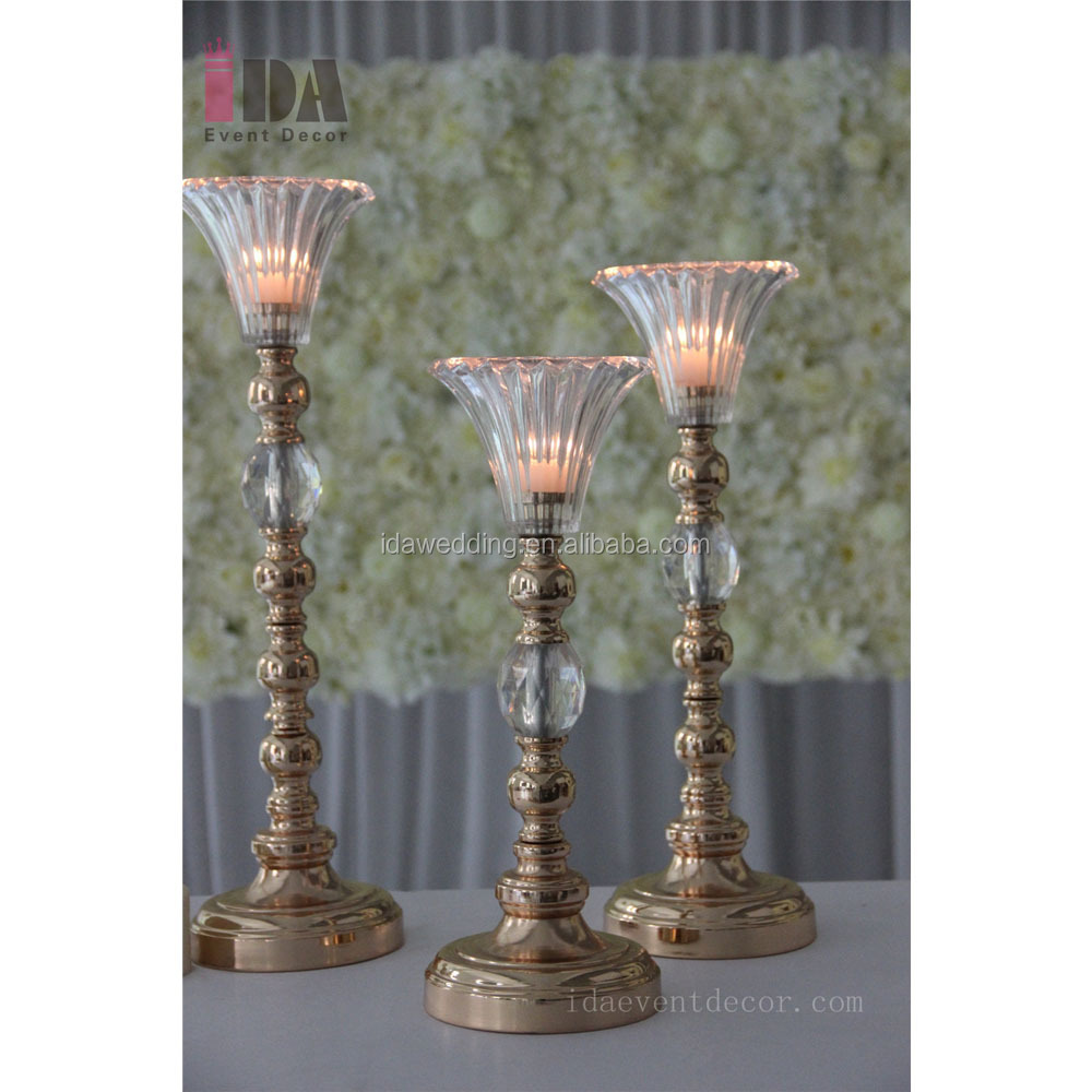 silver candlestick holder stand wedding decoration