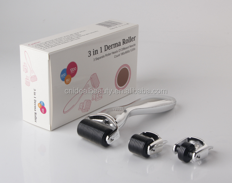 180/600/1200 pin micro needling 3 in 1 rullo di derma (F019E)