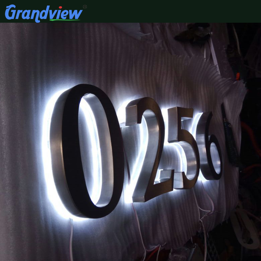 3D Custom metal signs led backlit signs letters and numbers