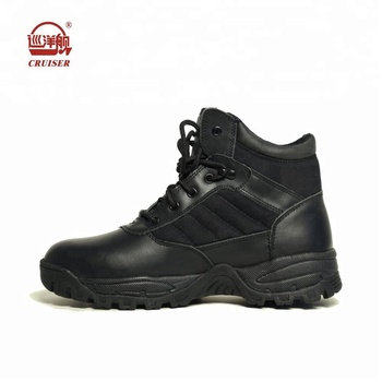 100b955244a black genuine leather police tactical boots shoes for men, View police  shoes for men, CRUISER Product Details from Jihua 3513 Industry Co., Ltd.  on ...