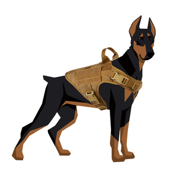 Durable Nylon Waterproof Tactical Dog Harness Working Dog Vest
