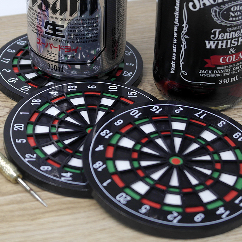 Alibaba.com / Mini Kitchen Utensils Dart board Styled Cup mouse pad Coaster Dart Board Drink Bottle Beer Beverage Cup Mats