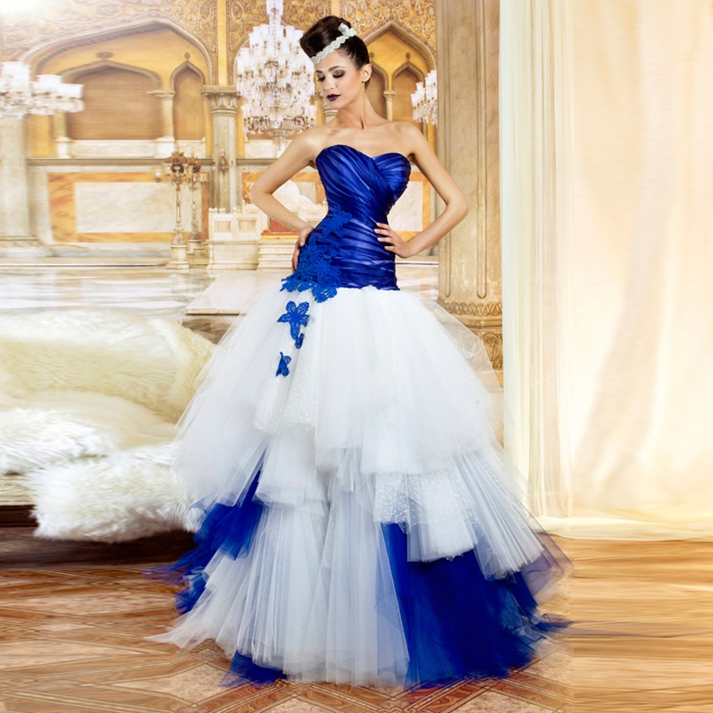 Strapless-Sweetheart-Ball-Gown-Royal-Blue-And-White