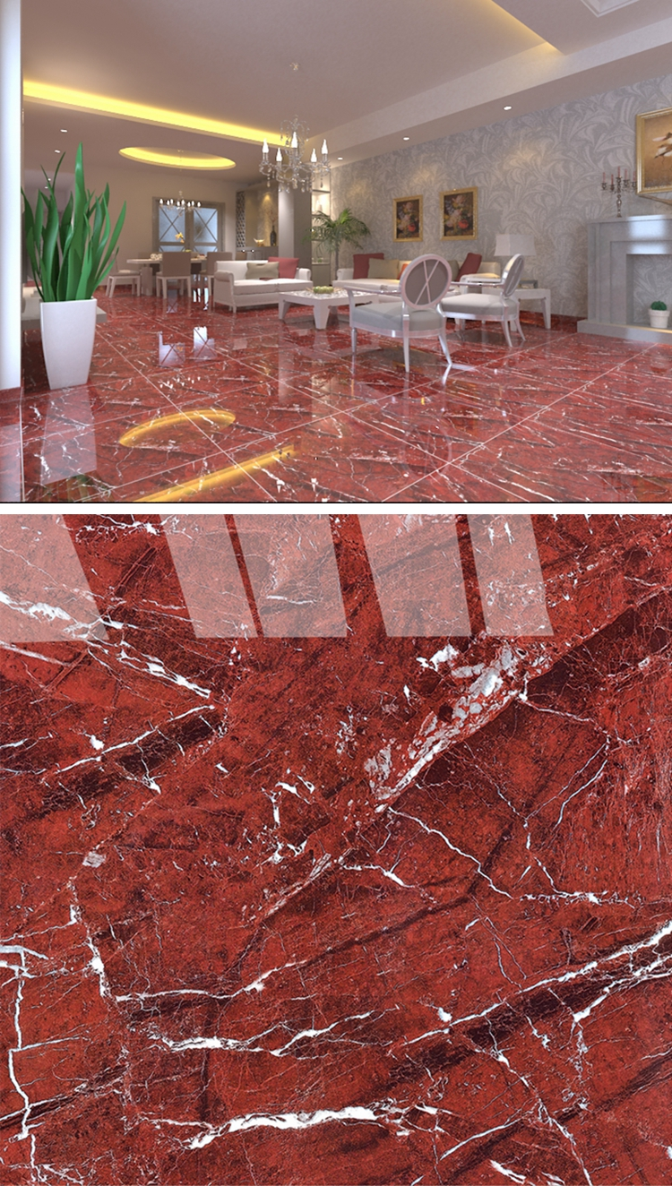 Hs617gn Ceramic Marble Floor Red Stone