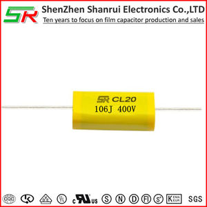 MEA/MET CL20 metallized polyester Axial film capacitors 106J 400V