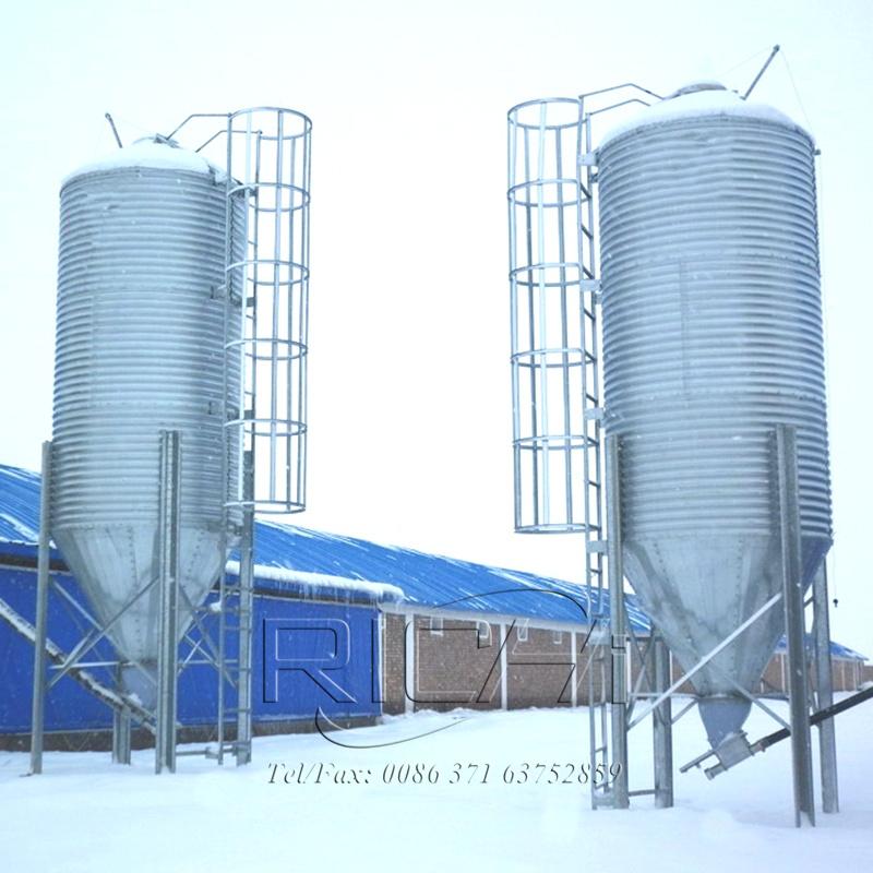 100T feed storage silos used for farm