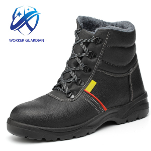 2018 new style High Quality Half Knee Wholesale Steel Toe Cap Mining warm Safety Boots for Israel