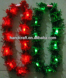 plastic hawaii christmas LED flower lei