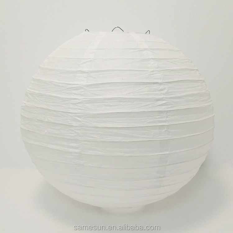 Meilun Art Crafts 5 Pack White Paper Lanterns For Wedding Party Decoration
