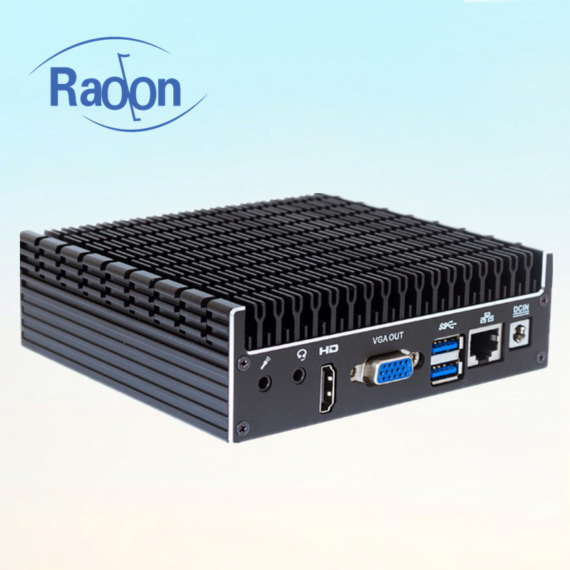 Best Sellers Produtos Fanless Mini-pc Industrial Full Hd 1080 P Mini Pc Caixa De Tv VGA Dual Vídeo Portátil PC computador Desktop NUC HT