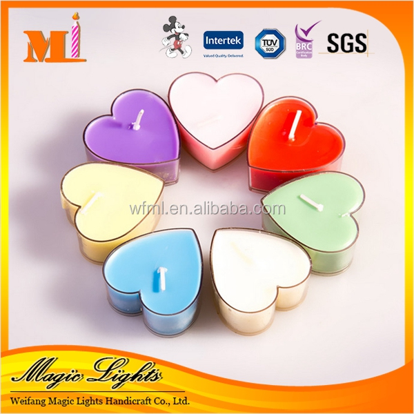 New Designed Manufacture Popular Fashionable Heart Shape Tealight Candle