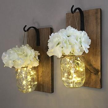 HOME sign decorated Wooden LED Letter Lights