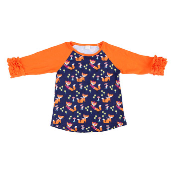 latest design long sleeve top baby clothes wholesale children's boutique clothing girl clothing