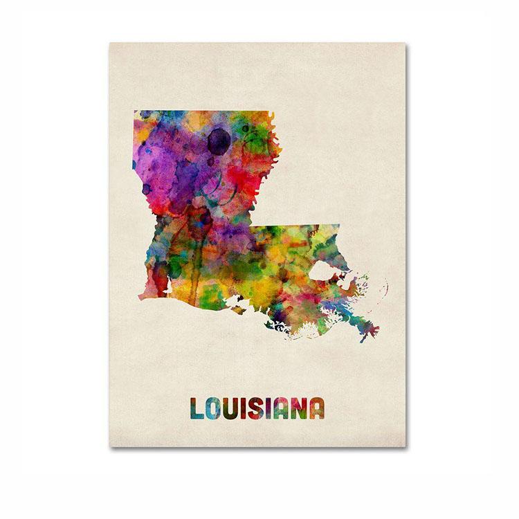 Vendita calda su ordinazione di stampa lucida laminato di carta tipo di arte mappa della città poster
