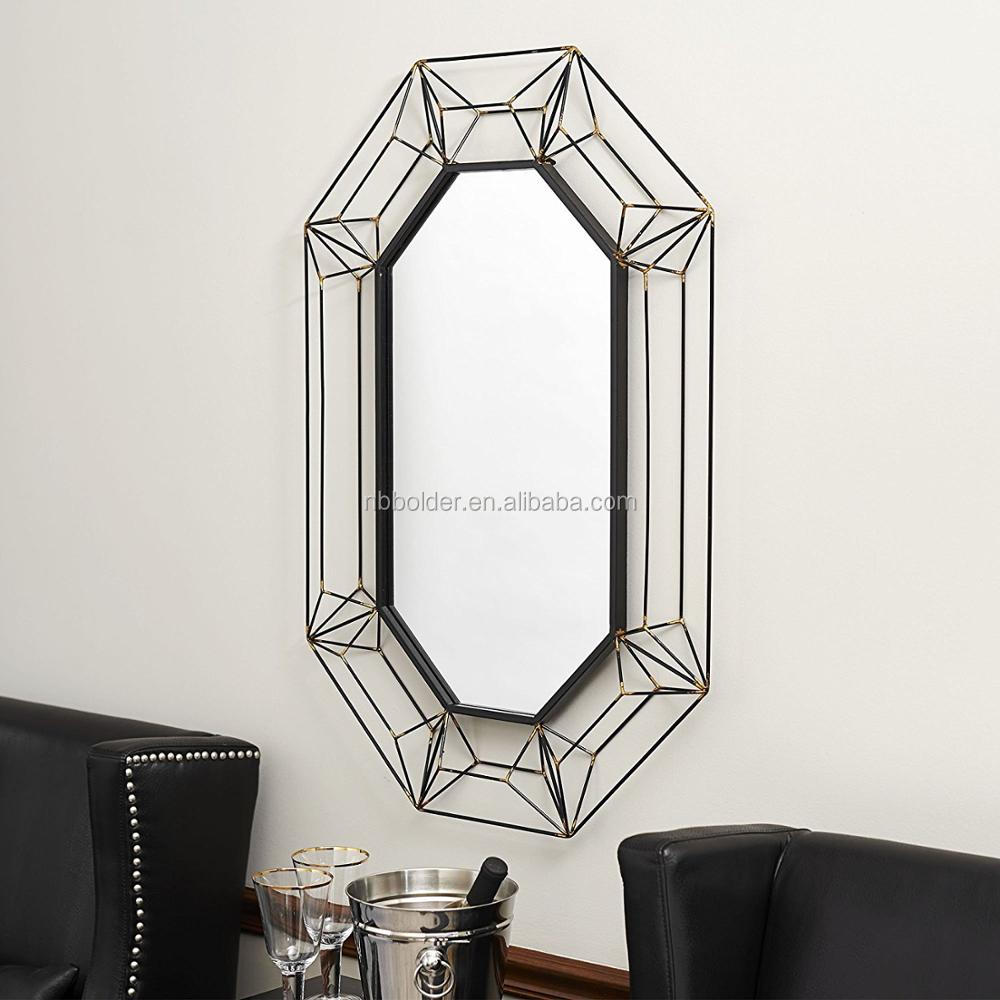 colgante de pared grande de metal alambre espejo pared marco d diseo decorativo del hogar espejos
