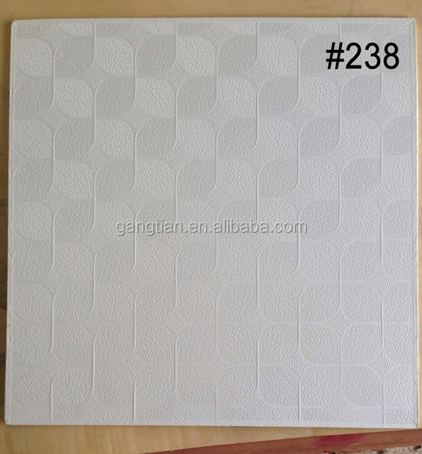 Pvc Laminated Gypsum Board : Pvc laminated gypsum board ceiling tiles