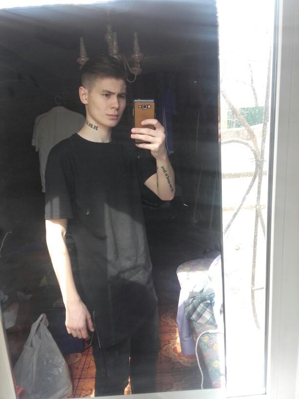 2017 Brand New Clothing Mens Black long t shirt Zipper Hip Hop longline extra long length tops tee tshirts for men tall t-shirt