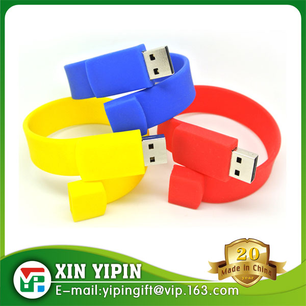 High-speed USB manufacturers custom cheap silicone bracelet usb with your logo