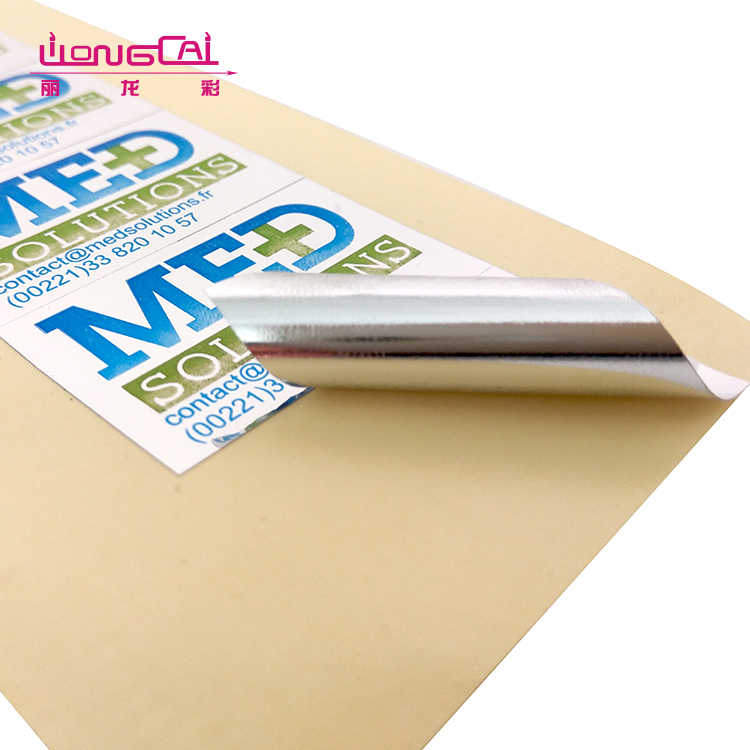 Good quality design logo glossy waterproof adhesive sheet labels paper