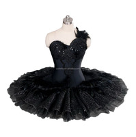 BLY1167 !! Customized Black swan ballet pancake classical skirt tutu dress