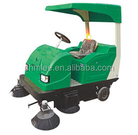 cleaning companies first choice outdoor use ride on motorized road sweeper with vacuum sweeping and water spraying MLEE-1860