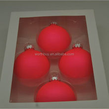 Red Christmas hanging balls 100 wholesale clear glass christmas ball ornaments