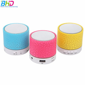 Speaker Bass Portable Bluetooth Wireless Speakers Smart Touch LED Atmosphere Lamp With TF Card Radio Fm 2018 speaker