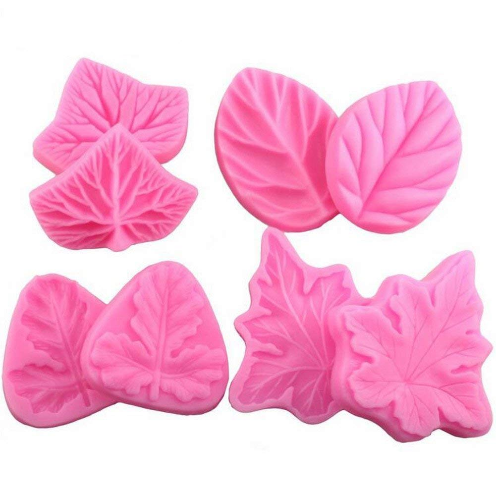 4Pcs/Set Soap Cupcake Making Mold, Flower Leaves Veiner Shape Moulds Fondant Cake Molds, Silicone Fondant Cake Decorating Tools Fondant Cake Sugarcraft Decorating Supplies Fondant Cake Baking Mold