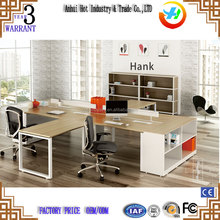 Contemporary furniture metal frame office workstation MFC/MDF board office cubical workstation for 4 person