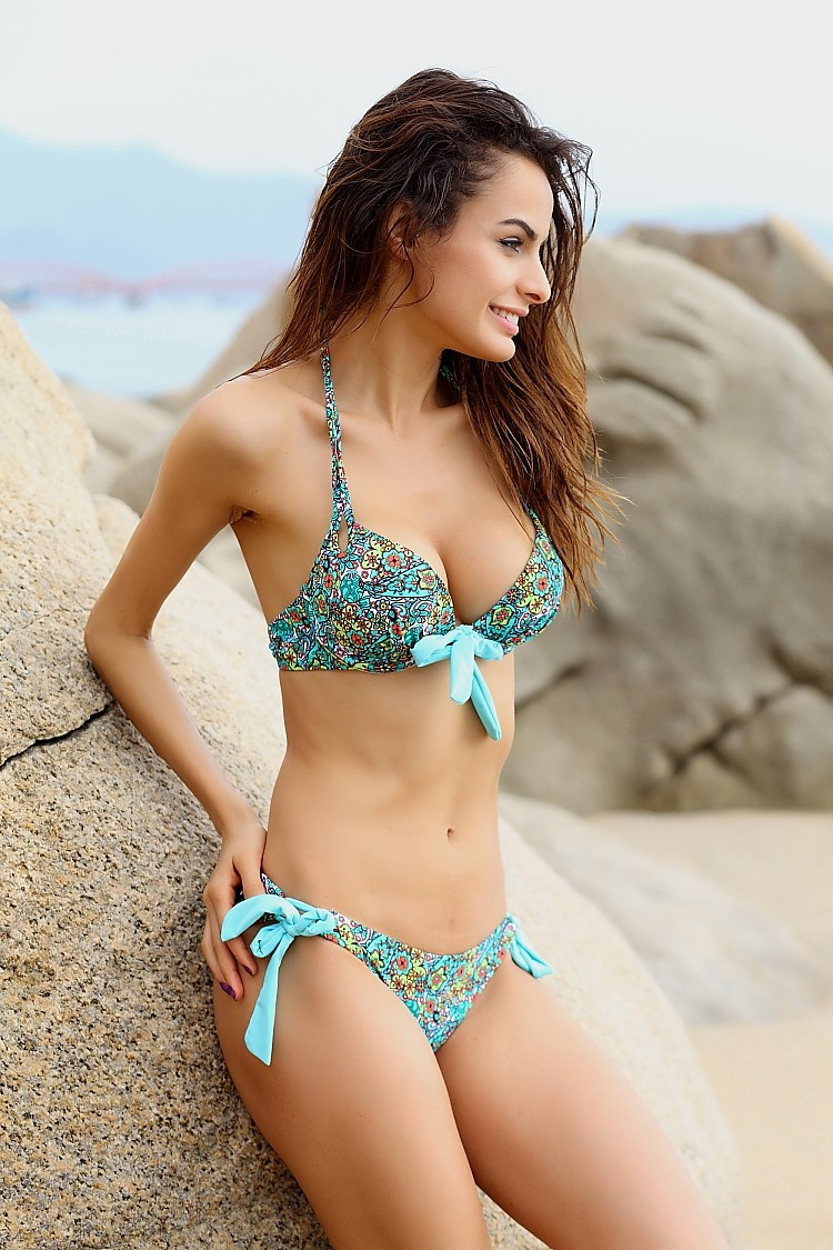 d805289313c42 2019 Push Up Bikini Roupa De Praia Swimwear Women Padded Boho Fringe ...