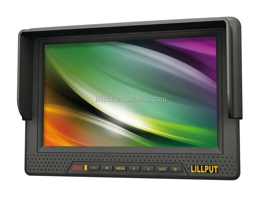 LILLIPUT Built-in Li-ion battery 7 Inch HDMI YPbPr AV Input LCD HD camera monitor