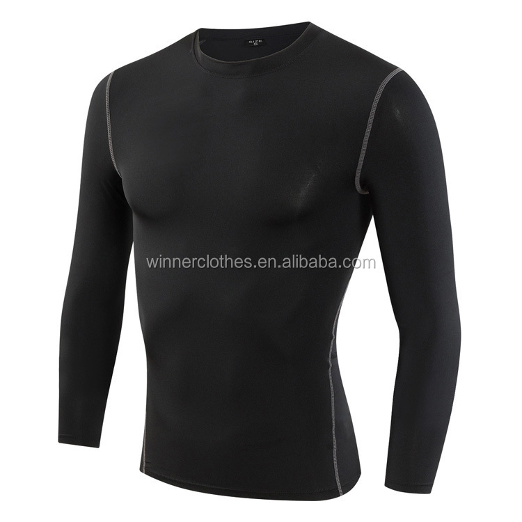 Wholesale Men's Clothing Gym Sport Wear Tight Men's t shirts custom fitness wear