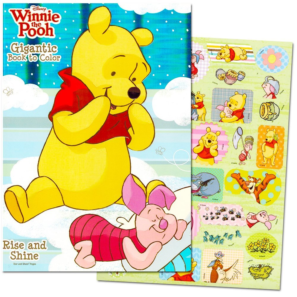 Disney Winnie the Pooh Giant Coloring and Activity Book with Stickers (224 Pages, Over 30 Stickers)