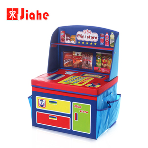 Factory collapsible non woven kids foldable toy fabric storage box with lid