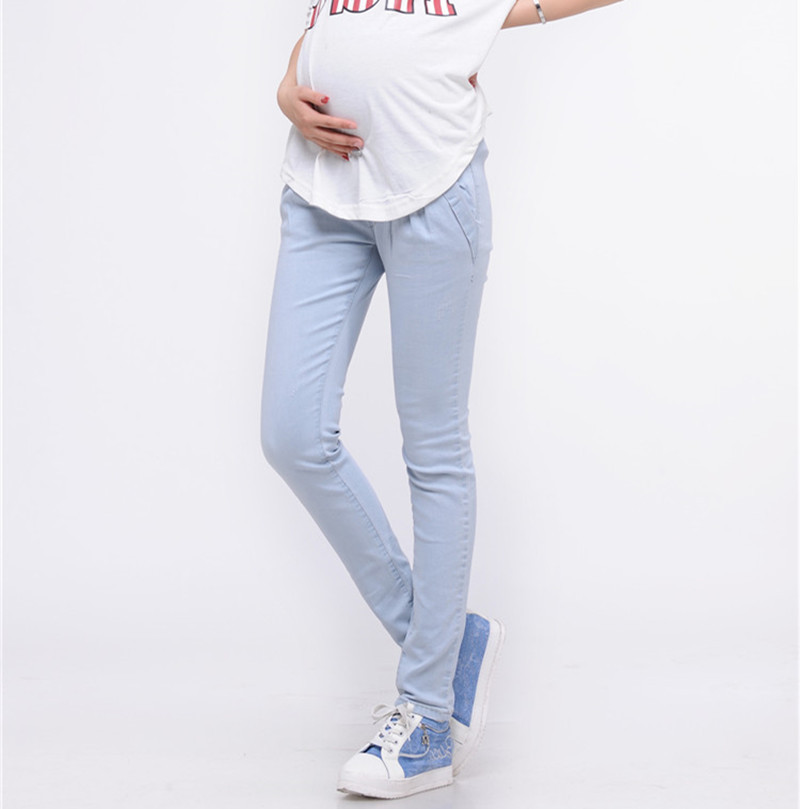 7c7f1bbc96f38 Get Quotations · 831# Denim Maternity Belly Jeans Elegant Pregnant Trousers  Skinny Pencil Pants for Pregnant Women 2015
