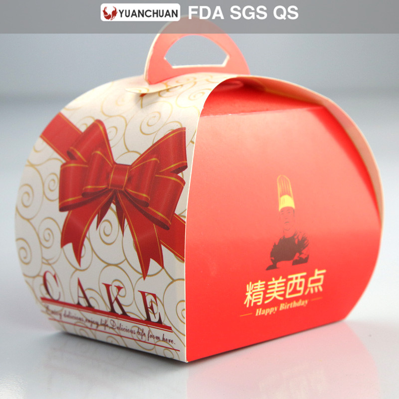 Disposable food paper birthday cake box